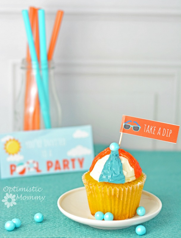 Pool Party Cupcakes #PowerOfThePool
