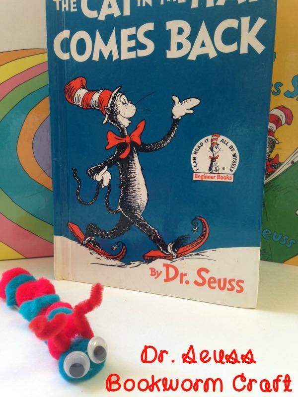 Dr. Seuss Bookworm Craft for Kids