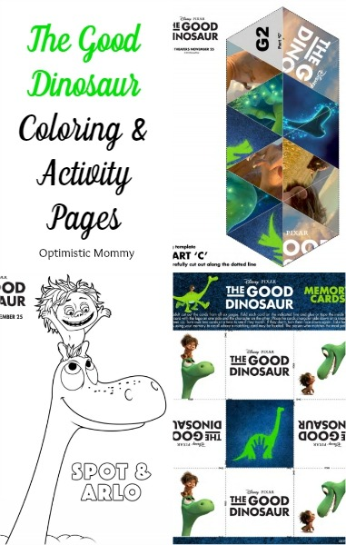 The Good Dinosaur Coloring and Activity Pages | Optimistic Mommy