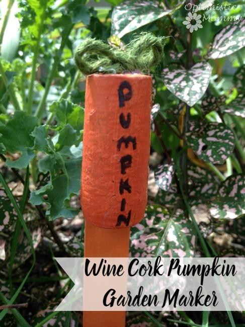 Wine Cork Pumpkin Garden Marker -00