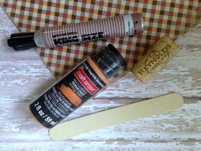 Wine Cork Pumpkin Garden Marker-02
