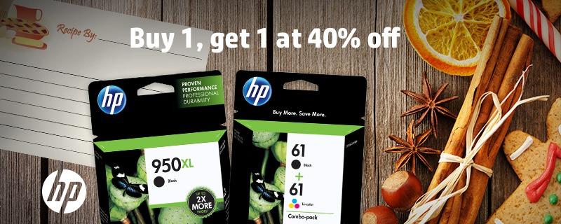 Get HP Ink BOGO 40% Off Through 10/10/15! #HPInk