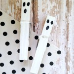Spooky Ghost Clothespins | Optimistic Mommy