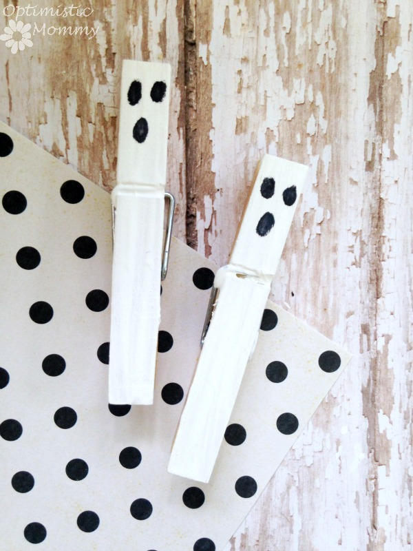 Spooky Ghost Clothespins by Optimistic Mommy