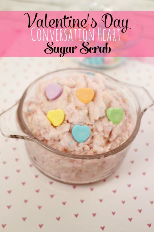 Valentine's Day Conversation Heart Sugar Scrub