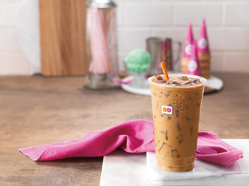 Baskin Robbins Flavored Pistachio Iced Coffee horizontal