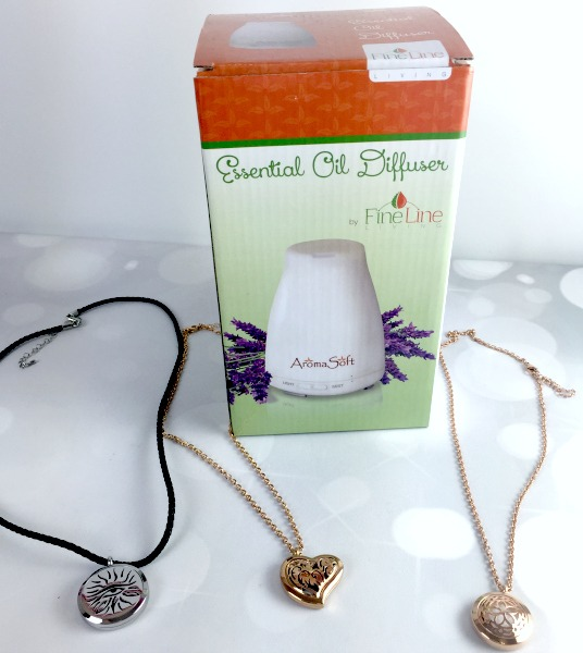 Fine Line Living Diffuser and Necklaces