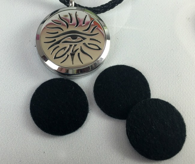 Fine Line Living Essential Oil Necklace Eye of Knowledge Pads