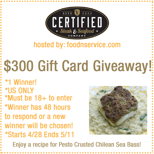 certified steak and seafood giveaway