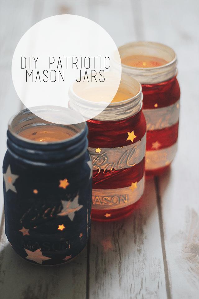 Diy Patriotic Mason Jars Optimistic Mommy
