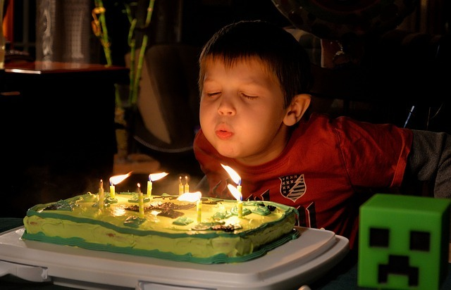 festival birthday candles cake boy