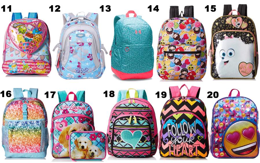 50 Girls Backpacks - 02