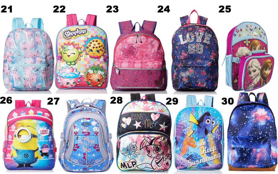 50 Girls Backpacks - 03
