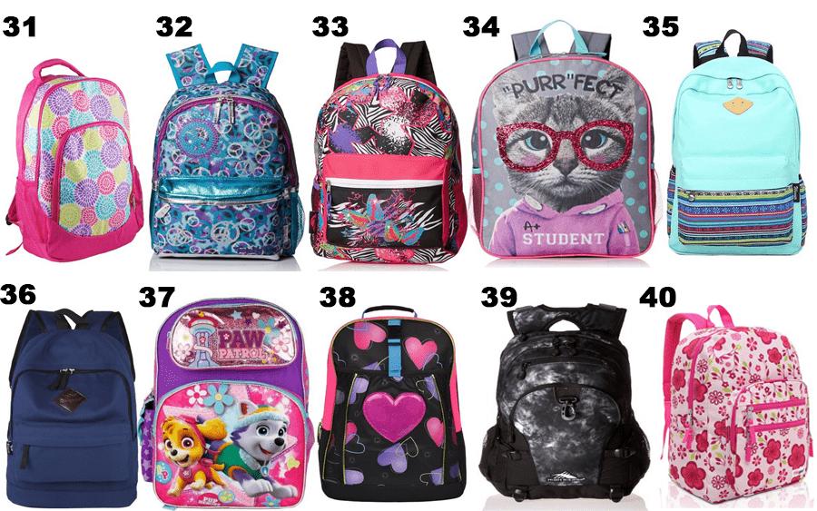 50 Girls Backpacks - 04