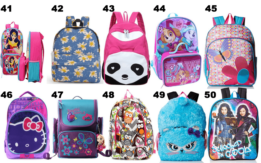 50 Girls Backpacks - 05