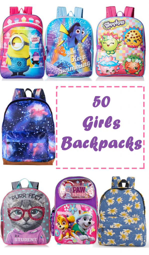 50 Girls Backpacks Pin