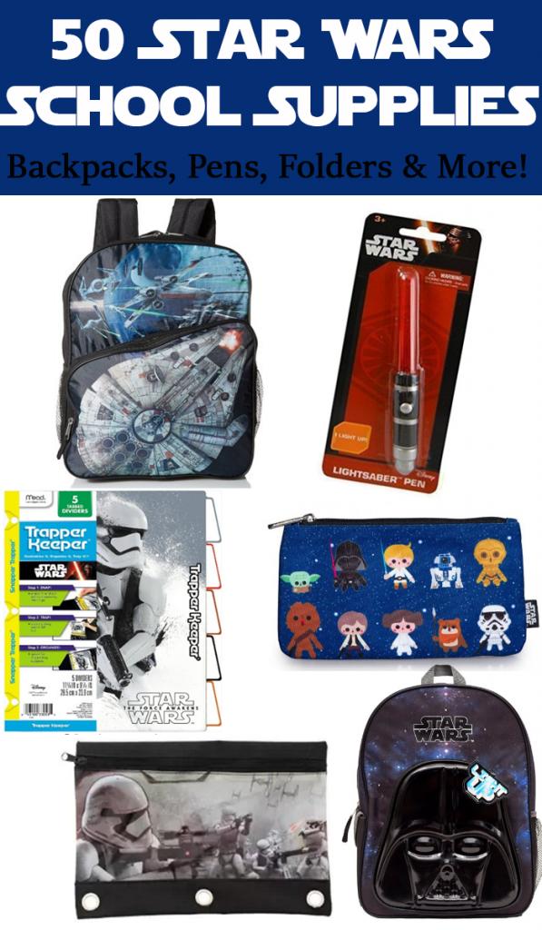 50 Star Wars School Supplies P