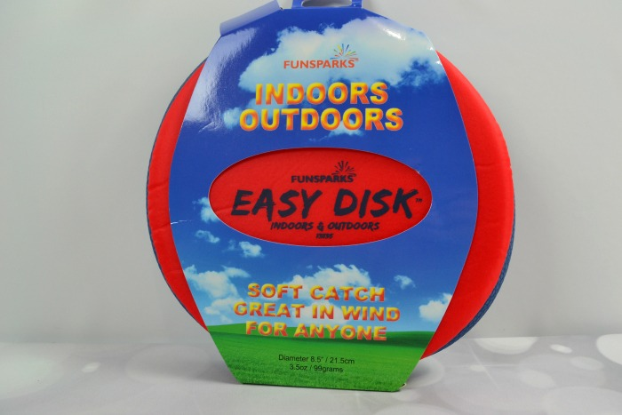 The Funsparks Easy Disk Frisbee is soft, yet durable, and is perfect for ages 6+.
