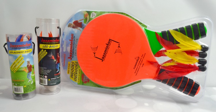 You can get your family up and moving and even laughing thanks to the fun Jazzminton paddle game from Funsparks.