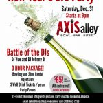 Join Axis alley for a 21+ New Year's Eve party!