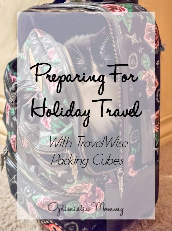 I'm helping your prepare for holiday travel with the help of TravelWise's packing cubes!