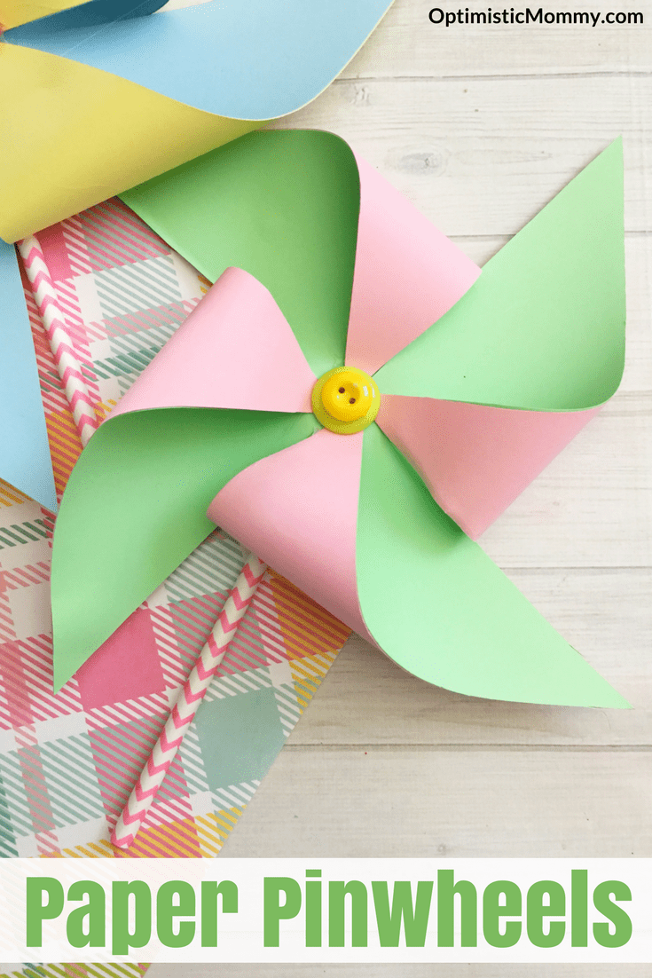 How to Make Paper Pinwheels - This is a fun DIY project for kids!