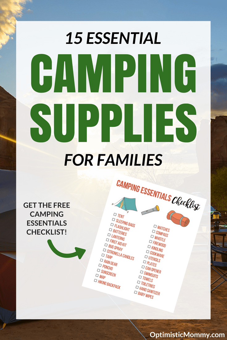 Essential Camping Supplies for Families - Learn more about what your family needs for camping and grab the FREE printable camping packing checklist!