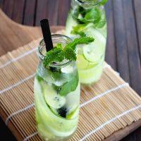 Fresh Lemon Cucumber Mint Water