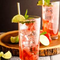 Low Carb, Alcohol Free Strawberry Mint Mojitos