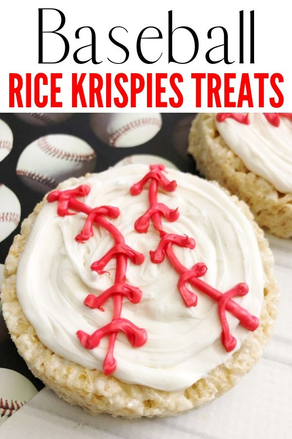 Baseball Rice Krispies pin image