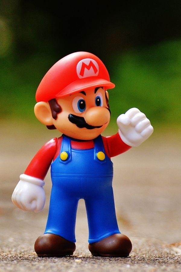 toy figure of mario