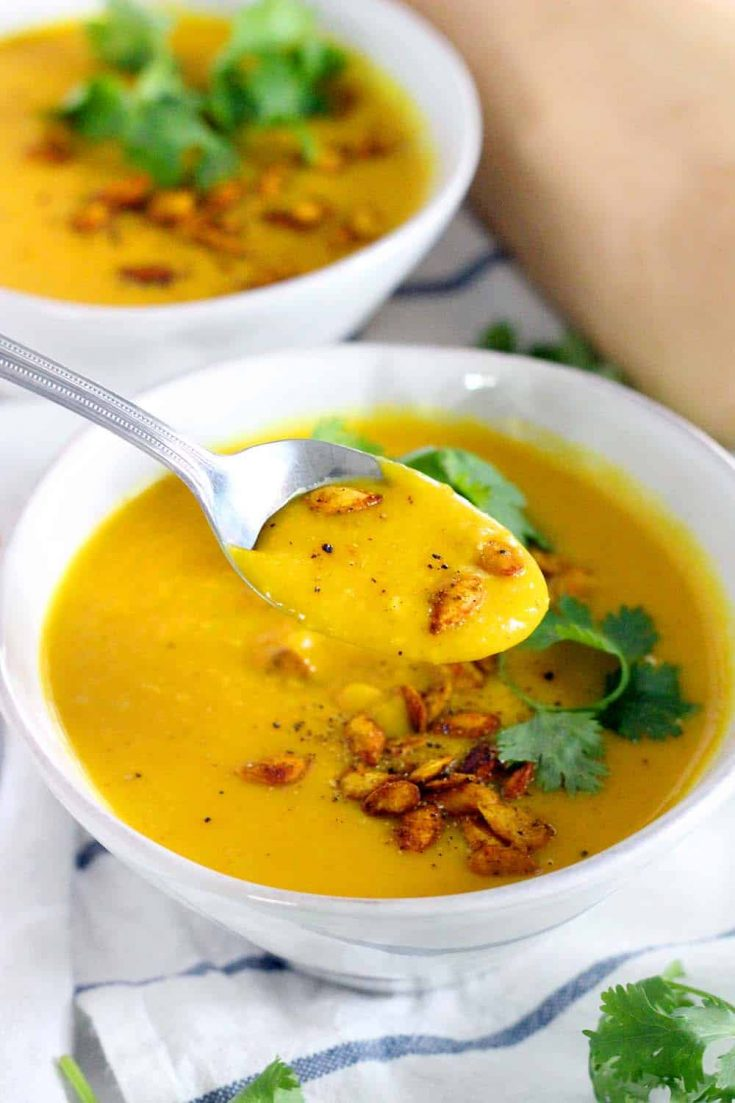 Ginger Turmeric Butternut Squash Soup