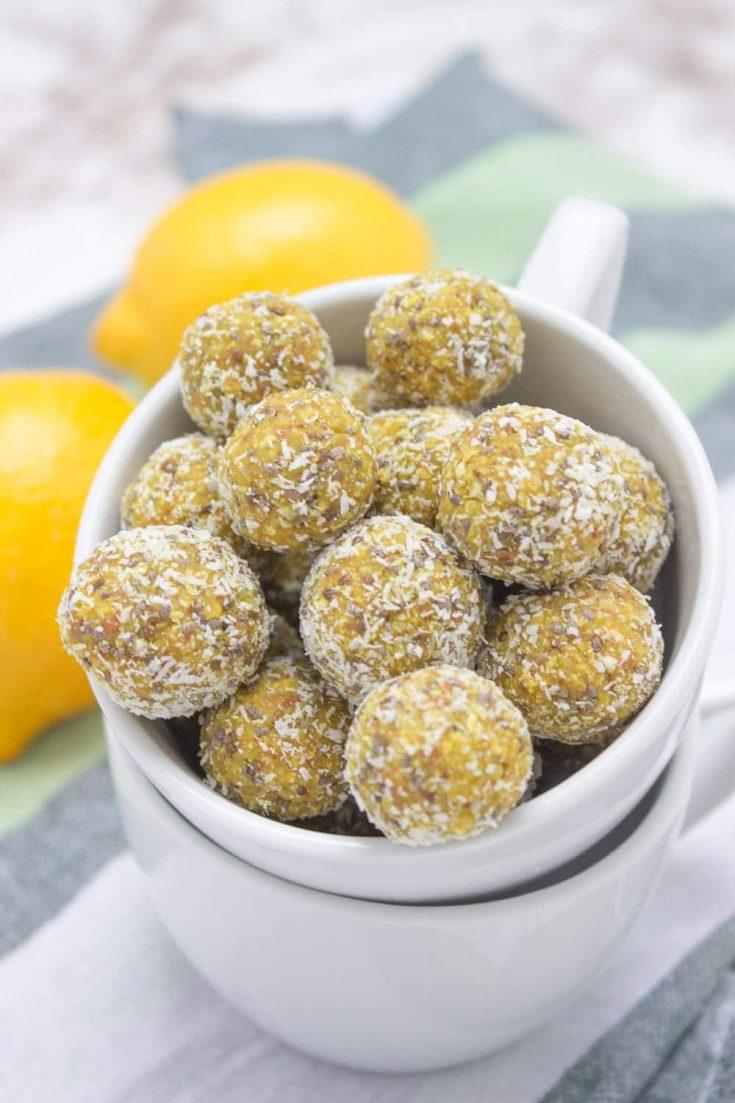 Lemon Turmeric Energy Balls