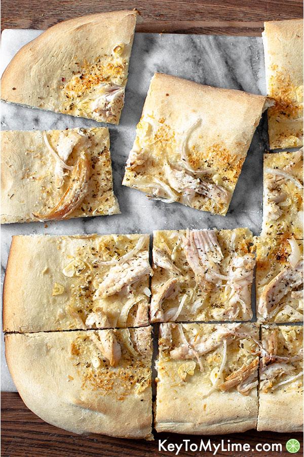 Healthier White Chicken Pizza