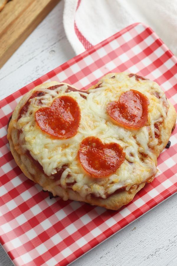 4 Ingredient Easy Heart Pizza Recipe