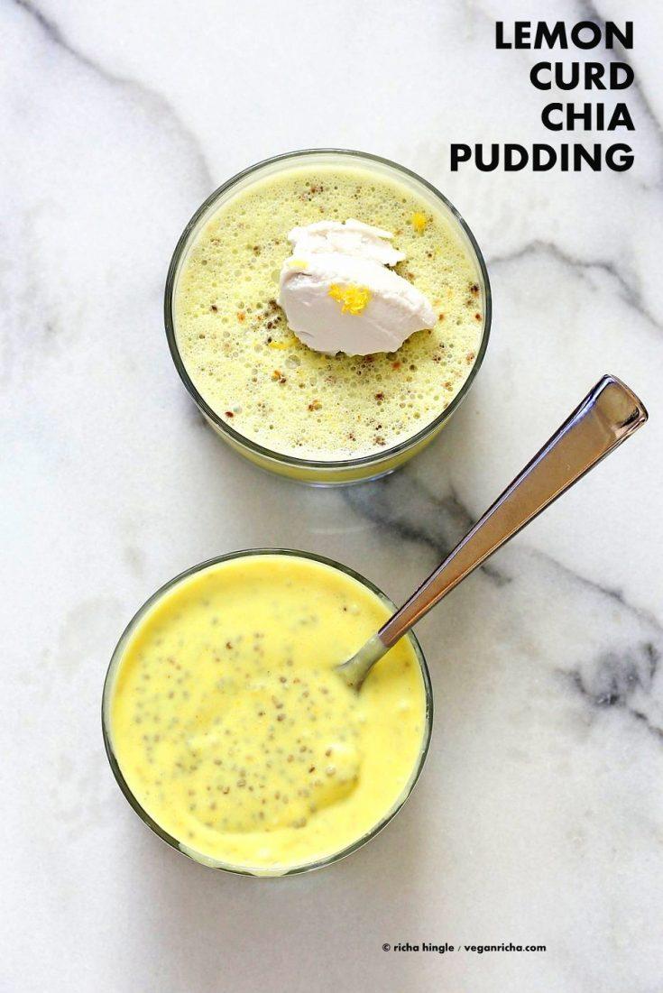 Lemon Curd Chia Pudding