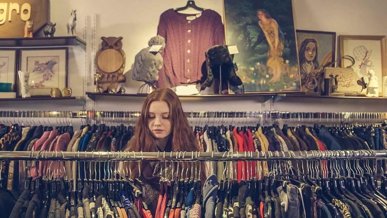women shopping clothes