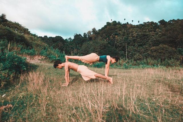 couples doing yoga